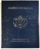 1995-P PROOF AMERICAN SILVER EAGLE ORIG BOX/COA