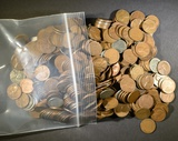 500-CIRC MIXED DATE WHEAT CENTS