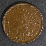 1864-L INDIAN HEAD CENT  AU/BU
