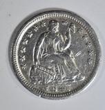 1847 SEATED LIBERTY HALF DIME  AU/BU