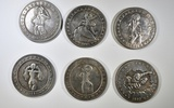 LOT OF 6 (BABE) HOBO COINS - NOT REAL MORGANS