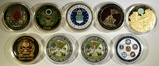 LOT OF 9 MILITARY CHALLENGE COINS