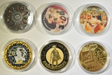 LOT OF 6 MISCELLANIOUS NOVELTY TOKENS