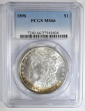 1896 MORGAN DOLLAR  PCGS MS-66