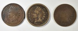 1863 F, 1864 BR VG & 1870 GOOD INDIAN HEAD CENTS