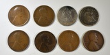 LOT OF 8 MIXED TYPE COINS: