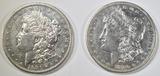 1880-S & 81-S MORGAN DOLLARS AU/BU