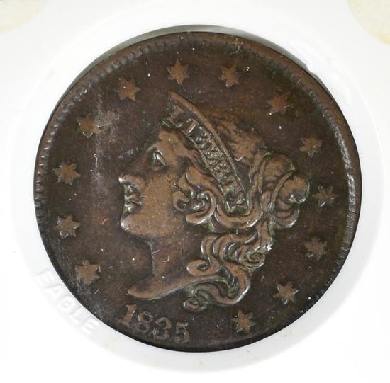 1835 LARGE CENT FINE