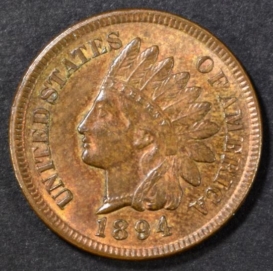 1894 INDIAN HEAD CENT  CH BU RB