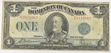 1923 CANADA $1 NOTE DC 25J  FINE