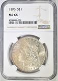 1896 MORGAN DOLLAR  NGC MS-66