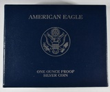 2008-W PROOF AMERICAN SILVER EAGLE IN OGP