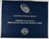 2018-W PROOF AMERICAN SILVER EAGLE IN OGP