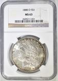 1888-O MORGAN DOLLAR  NGC MS-63