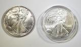 1989 & 2008 AMERICAN SILVER EAGLES  BU
