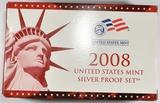 2008 U.S. SILVER PROOF SET ORIG PACKAGING