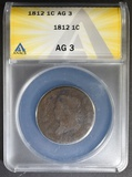 1812 LARGE CENT ANACS AG-3
