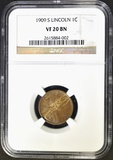 1909-S LINCOLN CENT NGC VF-20 BN