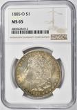 1885-O MORGAN DOLLAR NGC MS-65