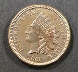 1861 INDIAN HEAD CENT  BU