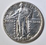 1920-S STANDING LIBERTY QUARTER  NICE BU
