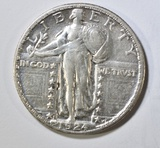 1924-S STANDING LIBERTY QUARTER  CH AU