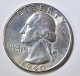 1940-D WASHINGTON QUARTER  CH BU