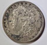 1878 8TF MORGAN DOLLAR AU