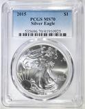 2015 AMERICAN SILVER EAGLE PCGS MS-70