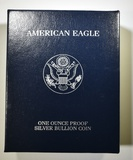 1997 PROOF AMERICAN SILVER EAGLEORIG BOX/COA