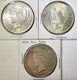 (2) 1922 & 1924 PEACE DOLLARS
