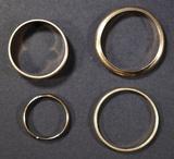 4 14K GOLD RINGS VARIOUS SIZES