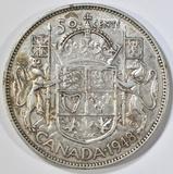 1948 CANADA HALF DOLLAR ORIG. AU KEY COIN