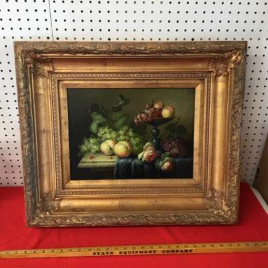 Framed Fruit Print in Ornate Frame