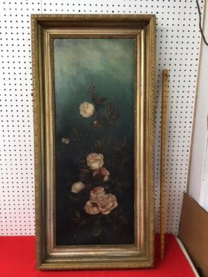 Old Framed Print on Canvas