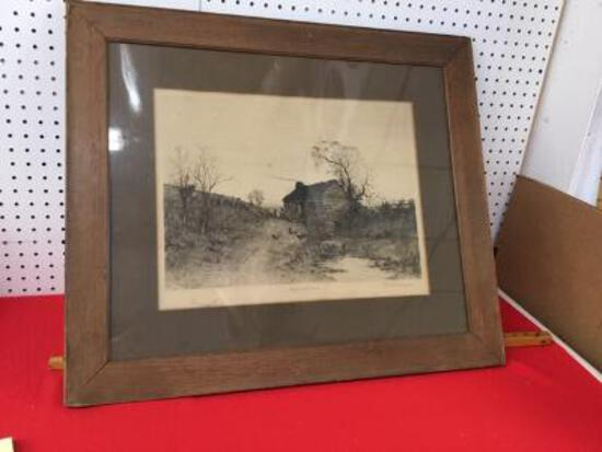 Artist Signed Etching