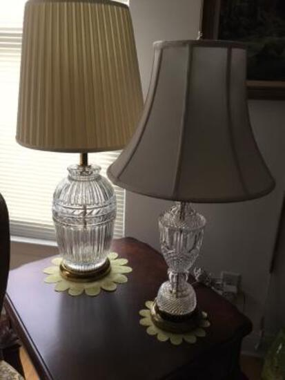 2 Crystal Lamps