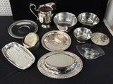 Assorted Silver Plate Serving Pieces