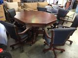 Game Table with 6 Chairs