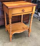 Pine Table With Drawer