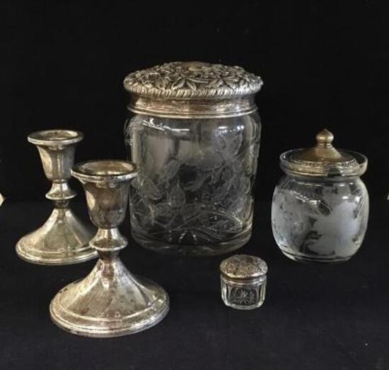 Jars w/Sterling Lids