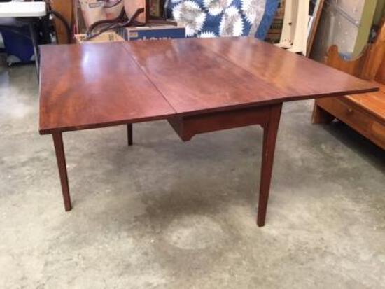 Early Solid Walnut Gateleg Table