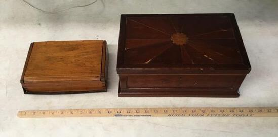 2 Old Wooden Boxes