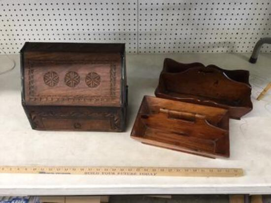 Wooden Box and Trays