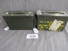 x2 large steel ammo cans.