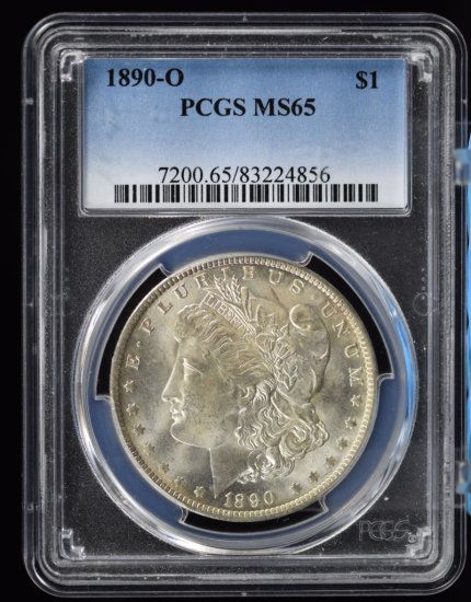 1890-O Morgan Dollar PCGS MS-65 Key Date in this Grade