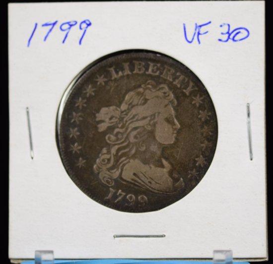 1799 Draped Bust Dollar 13 Stars Eagle REV VF Plus