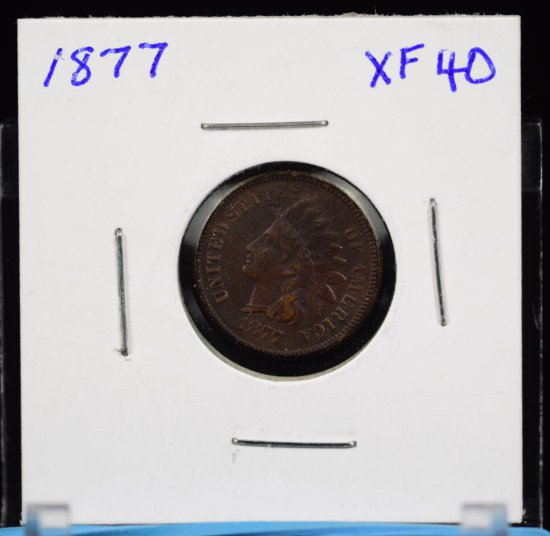 1877 Indian Head Cent EF Plus