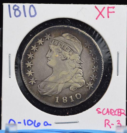 1810 Bust Half Dollar XF 0-106a Scarcer R3