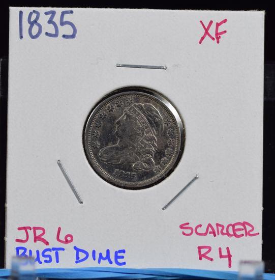 1835 Bust Dime XF JR6 Scarcer R4